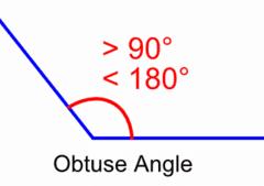 obtuse angle