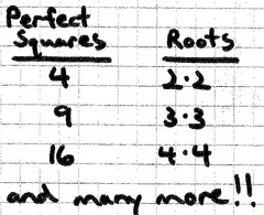 A square with a whole number root.