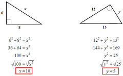 Example: Pythagorean Theorem