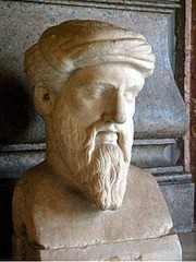 Greek philosopher, 570-495 BC. There is no evidence that Pythagoras himself worked on or proved the Pythagorean Theorem, which was used previously by Babylonians and Indians.