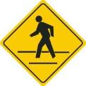 Pedestrian crosswalk - yield to people crossing