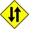 Two way traffic ahead