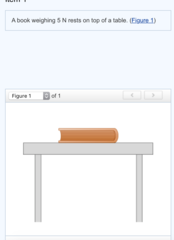 5 N / table / book / downward
